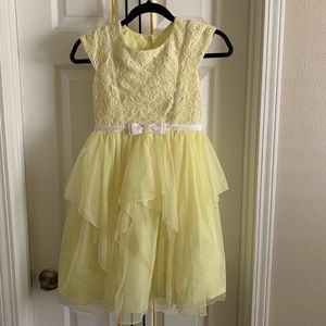 Girls yellow formal dress